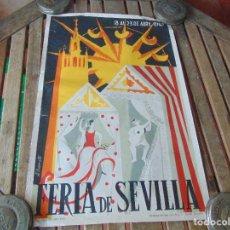 Carteles Feria: CARTEL DE LA FERIA DE SEVILLA AÑO 1967 MIDE 46 X 68 CM LEER Y MIRAR FOTOS. Lote 147177834