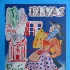Carteles Feria: CARTEL ELVAS PORTUGAL - FESTAS DA CIDADE - AÑO 1950. Lote 147440266