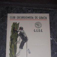 Affissi Fiera: MONTAÑISMO 1955 CARTEL XII CURSO OFICIAL DE ESCALADA G.E.D.E. - F.E.M. CLUB EXCURSIONISTA DE GRACIA . Lote 147500894