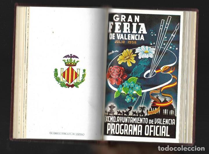 Carteles Feria: COLECCIÓN PROGRAMA FERIA DE JULIO DE VALENCIA 1940 a 1960 ENCUADERNADA 2 TOMOS - Foto 5 - 147558278