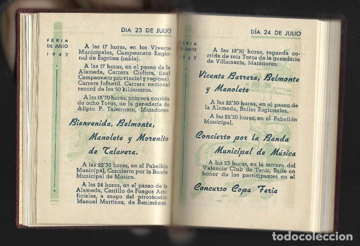 Carteles Feria: COLECCIÓN PROGRAMA FERIA DE JULIO DE VALENCIA 1940 a 1960 ENCUADERNADA 2 TOMOS - Foto 6 - 147558278
