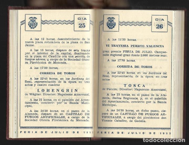 Carteles Feria: COLECCIÓN PROGRAMA FERIA DE JULIO DE VALENCIA 1940 a 1960 ENCUADERNADA 2 TOMOS - Foto 7 - 147558278