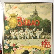 Carteles Feria: CARTEL CORRIDAS GENERALES BILBAO. AÑO 1955. ILUSTRADO POR J. REUS. Lote 147845758