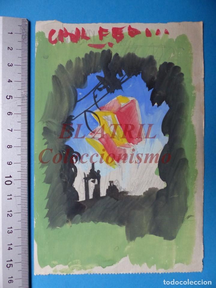 ORIGINAL PINTADO A MANO - GRAN FERIA - DESCONOCIDO - AÑOS 1940-50 (Coleccionismo - Carteles Gran Formato - Carteles Ferias, Fiestas y Festejos)