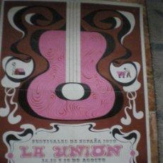 Carteles Feria: LA UNION CANTE DE LAS MINAS 1970. Lote 148416578