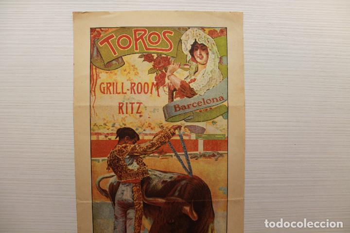 Carteles Feria: CARTEL HOTEL RITZ, TAUROMÁQUIA, 1924, 35X16 CM - Foto 2 - 148422478