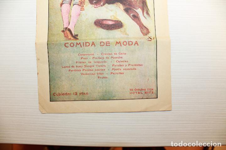 Carteles Feria: CARTEL HOTEL RITZ, TAUROMÁQUIA, 1924, 35X16 CM - Foto 3 - 148422478