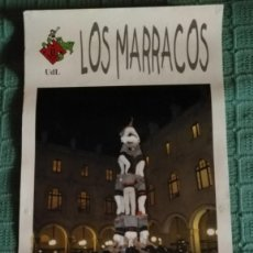 Carteles Feria: CARTEL CASTELLERS LOS MARRACOS - PRIMER 3 DE 6 - NOVEMBRE 2002 - UDL LLEIDA. Lote 148441054