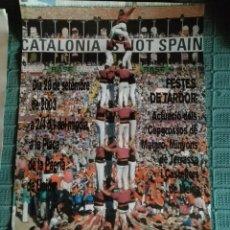 Carteles Feria: CARTEL CASTELLERS DE LLEIDA 2 - FESTES DE TARDOR 2003. Lote 148491306