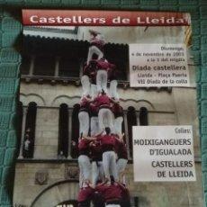 Carteles Feria: CARTEL CASTELLERS DE LLEIDA 3 - DIADA CASTELLERA NOVEMBRE 2001. Lote 148580642