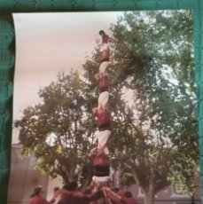 Carteles Feria: CARTEL CASTELLERS DE LLEIDA 4 - PILAR DE 7 AMB FOLRE. Lote 148582098