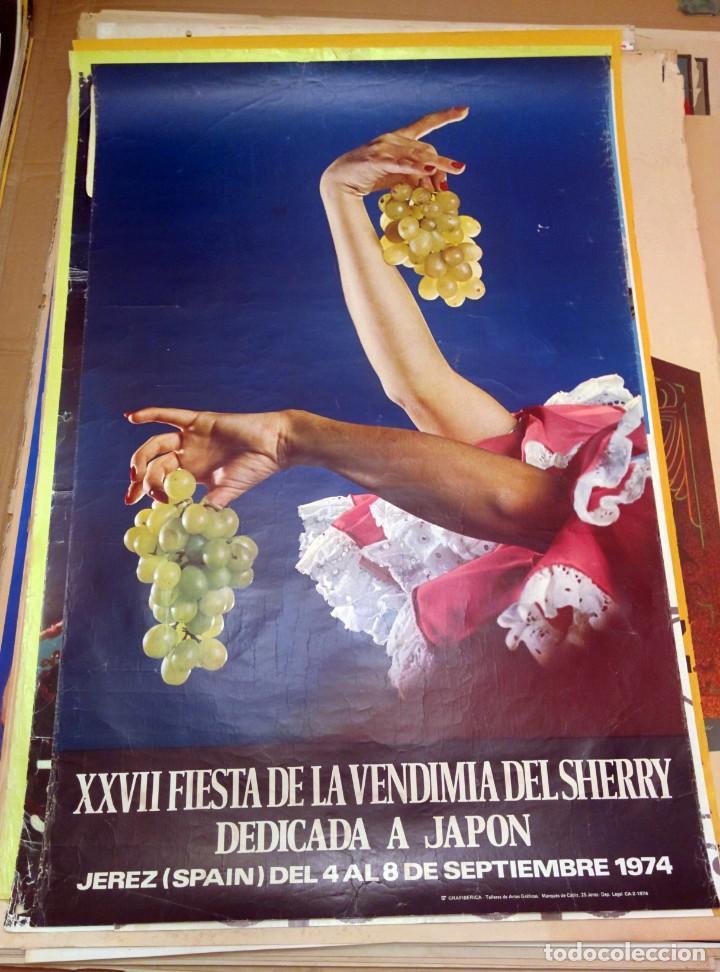 XXVII FIESTA DE LA VENDIMIA DEL SHERRY DEDICADA A JAPÓN 1974 (Coleccionismo - Carteles Gran Formato - Carteles Ferias, Fiestas y Festejos)