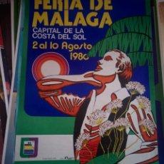 Carteles Feria: CARTEL FERIA DE MALAGA 1980. Lote 150073914