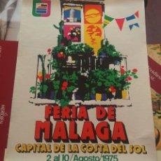 Carteles Feria: CARTEL FERIA DE MALAGA 1975. Lote 150074854