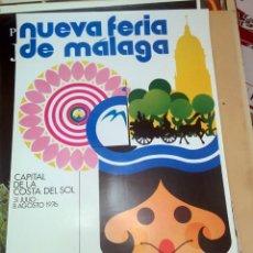 Carteles Feria: CARTEL ORIGINAL FERIA DE MALAGA ORIGINAL 1976. Lote 150081370