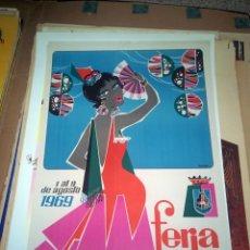 Carteles Feria: MALAGA - FERIA MALAGA - AGOSTO 1969. Lote 150081694
