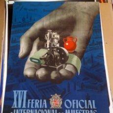 Carteles Feria: BARCELONA, XVI FERIA OFICIAL E INTERNACIONAL DE MUESTRAS 1948. Lote 150090910