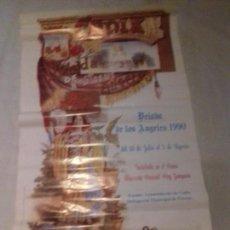 Carteles Feria: CARTEL. VELADA DE LOS ANGELES. CADIZ. 1990.. Lote 151176786