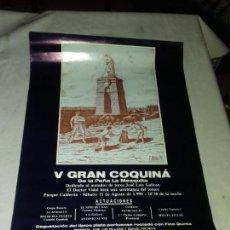 Carteles Feria: CARTEL. V GRAN COQUINA. DE LA PEÑA LA MEZQUITA. PUERTO DE SANTA MARIA. 1990.. Lote 151336666