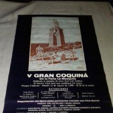 Carteles Feria: CARTEL. V GRAN COQUINA. DE LA PEÑA LA MEZQUITA. PUERTO DE SANTA MARIA. 1990.. Lote 151336690