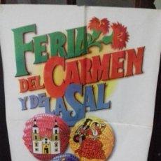 Carteles Feria: CARTEL. FERIA DEL CARMEN Y DE LA SAL. SAN FERNANDO ( CADIZ ). 1987. Lote 151490854