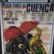 Carteles Feria: CARTEL. PLAZA DE TOROS DE CUENCA. FERIA TAURINA SAN JULIAN 1995.. Lote 151890766
