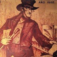 Carteles Feria: CARTEL ORIGINAL EN MADERA DE LA FERIA DEL LIBRO DE BARCELONA 1952 (1 METRO X 1.22 METROS X 5CM). Lote 113866415