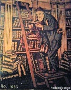 Cartel original en madera de la Feria del libro de Barcelona 1953