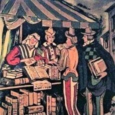 Carteles Feria: CARTEL ORIGINAL EN MADERA DE LA FERIA DEL LIBRO DE BARCELONA 1954 (1 METRO X 1.22 METROS X 5CM). Lote 113866555