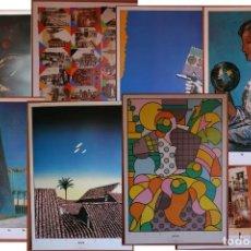 Carteles Feria: 8 CARTELES ORIGINALES DE LA EXPOSICIÓN 1992 DE SEVILLA, DE 480 X 650 MM. KILLIAM BILLOUT CHWAST GIL. Lote 221848363