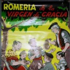 Carteles Feria: ANTIGUO Y PRECIOSO POSTER DE LA ROMERIA DE LA VIRGEN DE GRACIA - 1984 - SAN LORENZO DEL ESCORIAL - P. Lote 153558734