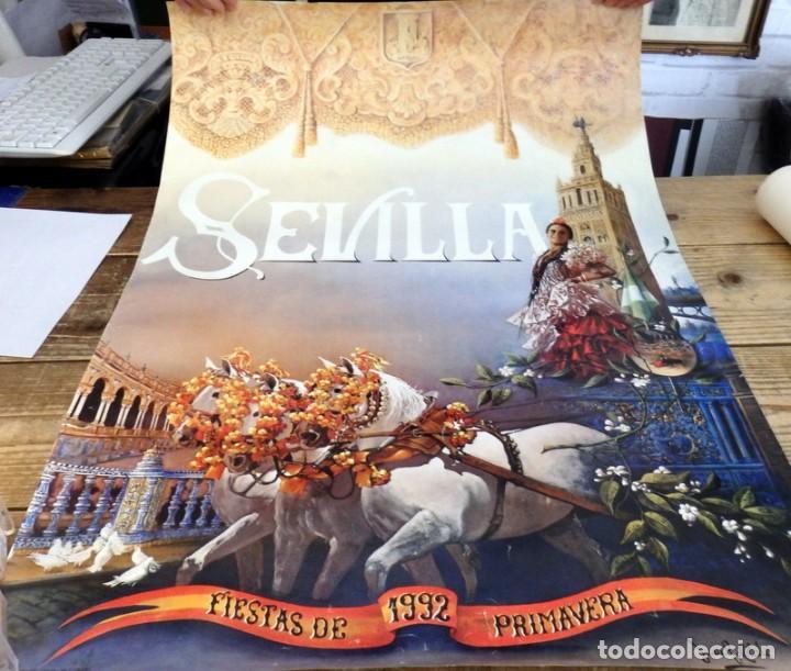 CARTEL FIESTAS PRIMAVERA SEVILLA 1992, 50X72 CMS (Coleccionismo - Carteles Gran Formato - Carteles Ferias, Fiestas y Festejos)