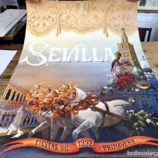 Carteles Feria: CARTEL FIESTAS PRIMAVERA SEVILLA 1992, 50X72 CMS. Lote 210836491
