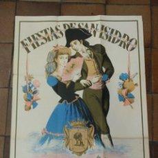 Carteles Feria: CARTEL ORIGINAL SAN ISIDRO 1947 MADRID LERNY ILUSTRADOR. 100 X 70 CM. Lote 154231642