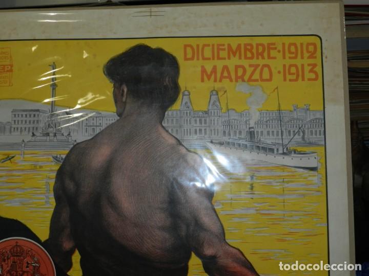 Carteles Feria: (M) CARTEL ORIGINAL CIUDAD DE BARCELONA EXPOSICION INTERNACIONAL DE PRODUCTOS 1912 / 1913 - Foto 4 - 154286838