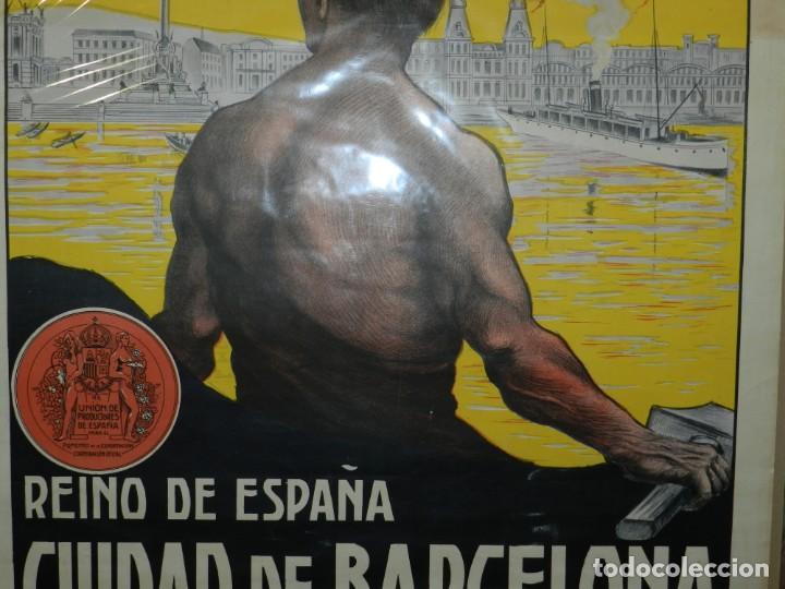 Carteles Feria: (M) CARTEL ORIGINAL CIUDAD DE BARCELONA EXPOSICION INTERNACIONAL DE PRODUCTOS 1912 / 1913 - Foto 5 - 154286838