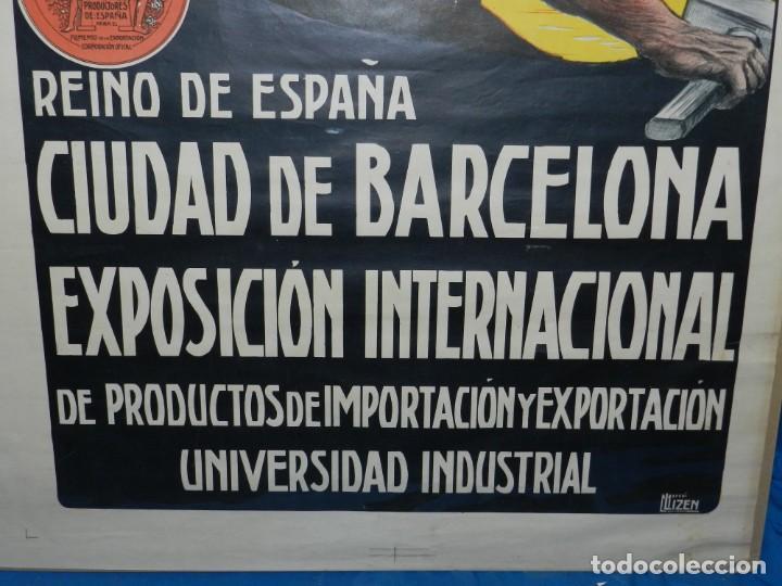 Carteles Feria: (M) CARTEL ORIGINAL CIUDAD DE BARCELONA EXPOSICION INTERNACIONAL DE PRODUCTOS 1912 / 1913 - Foto 6 - 154286838