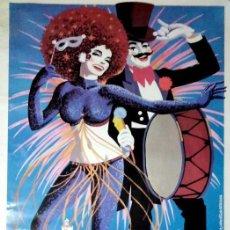 Carteles Feria: CARTEL. CARNAVAL EN EL PUERTO 1985. 18 AL 25 DE FEBRERO.. Lote 155170438