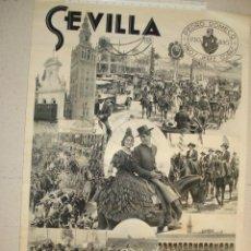 Carteles Feria: ANTIGUO CARTEL DE SEVILLA FIESTAS DE PRIMAVERA AÑOS 30. Lote 155374642