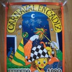 Carteles Feria: CARTEL CARNAVAL DE CÁDIZ 1980. Lote 155506094