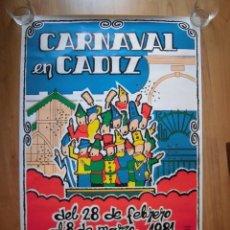 Carteles Feria: CARTEL CARNAVAL DE CÁDIZ 1981. Lote 155507390