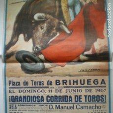 Carteles Feria: CARTEL TOROS BRIHUEGA 1967. Lote 156000962