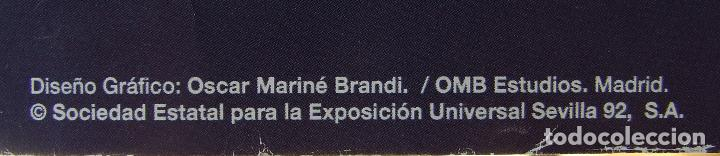 Carteles Feria: CARTEL EXPOSICION UNIVERSAL SEVILLA 1992 EXPO 92 DISEÑO OSCAR MARINE - Foto 2 - 156024478