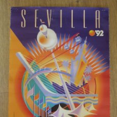 Carteles Feria: CARTEL EXPOSICION UNIVERSAL SEVILLA 1992 EXPO 92 DISEÑO JAVIER ROMERO. Lote 156024594
