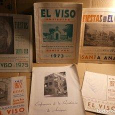 Carteles Feria: CÓRDOBA, EL VISO, CINCO PGRAMAS DE FIESTAS AÑOS 1971,72,73,75 Y 76 YU FOLLETO RESIDENCIA. FOTOS. Lote 156612054