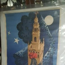 Carteles Feria: SEVILLA BONITO CARTEL ORIGINAL SEMANA SANTA 1955 - 100 X 61 CMS . Lote 156641886