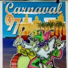 Carteles Feria: CARTEL . CARNAVAL 1997. EL PUERTO DE SANTA MARIA.. Lote 156923254