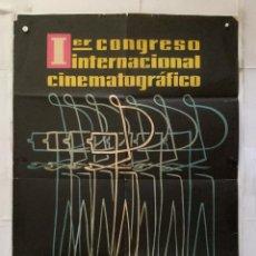 Carteles Feria: 1º CONGRESO INTERNACIONAL CINEMATOGRAFICO BARCELONA 1959 LORENA GRAN SOLA. Lote 157015086