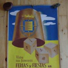 Carteles Feria: CARTEL FERIAS Y FIESTAS DE VALLADOLID 1950 (PRESENTADO AL CONCURSO CARTELES FIESTAS). Lote 157021278