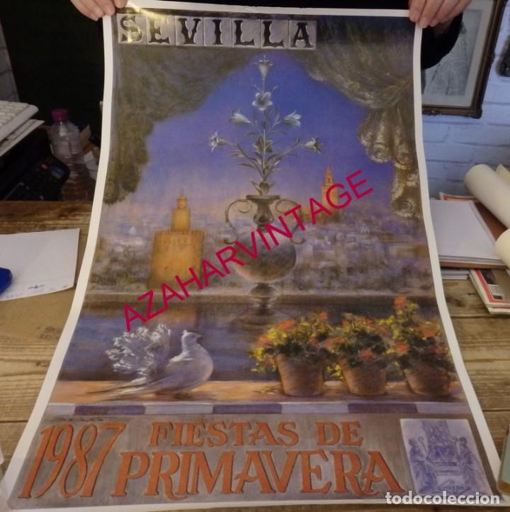 SEVILLA, 1987, CARTEL FIESTAS DE PRIMAVERA, 43X70 CMS (Coleccionismo - Carteles Gran Formato - Carteles Ferias, Fiestas y Festejos)